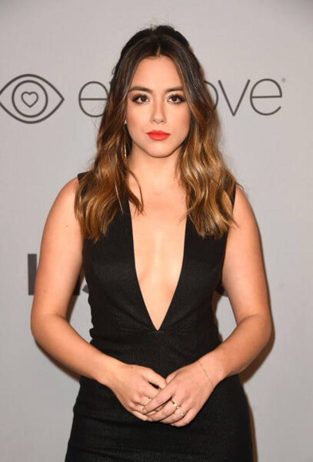 chloe bennet sexy red lips