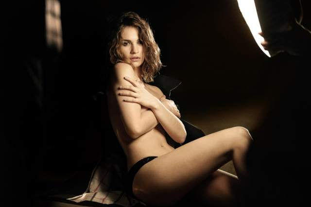 lily james near-nude