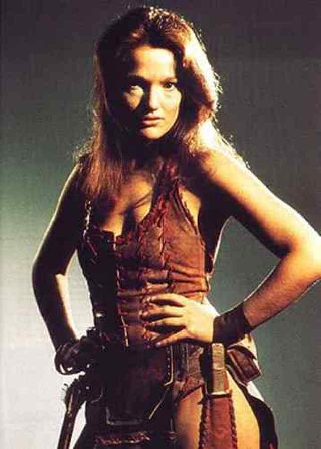 Louise Jameson side boobs