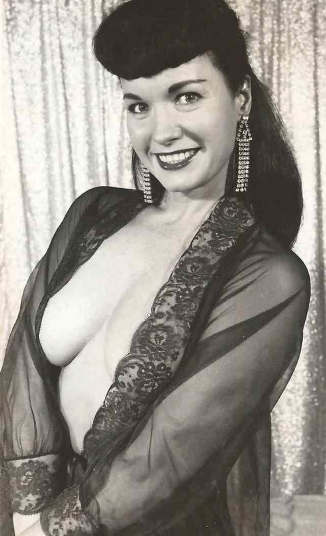 Bettie Page side big boobs
