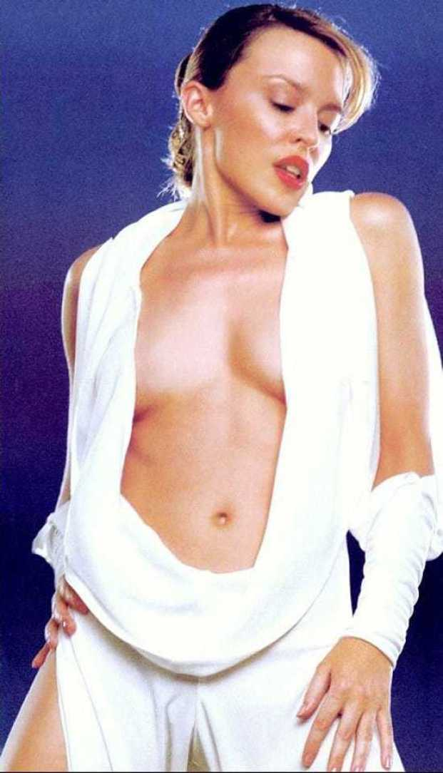 Kylie Minogue sexy cleavage pictures