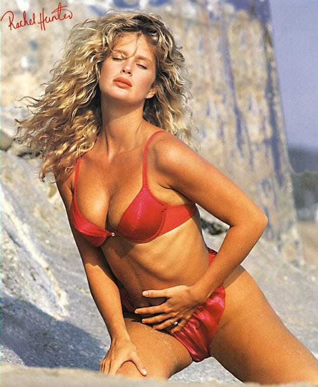 Rachel Hunter sexy lingerie picture
