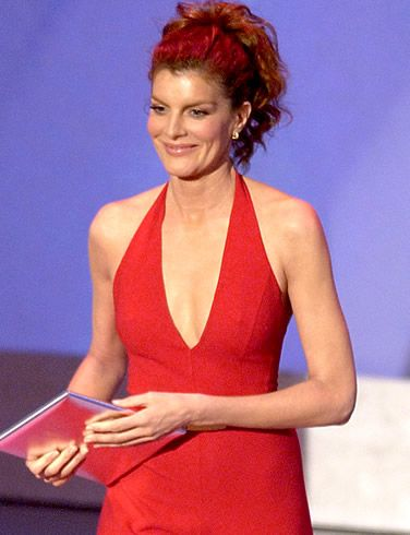 Rene Russo sexy cleavage pic