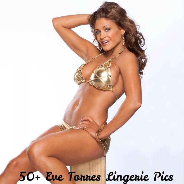 Eve-Torres-Sexy-Boobs-Pictures-in-Golden-Bikini