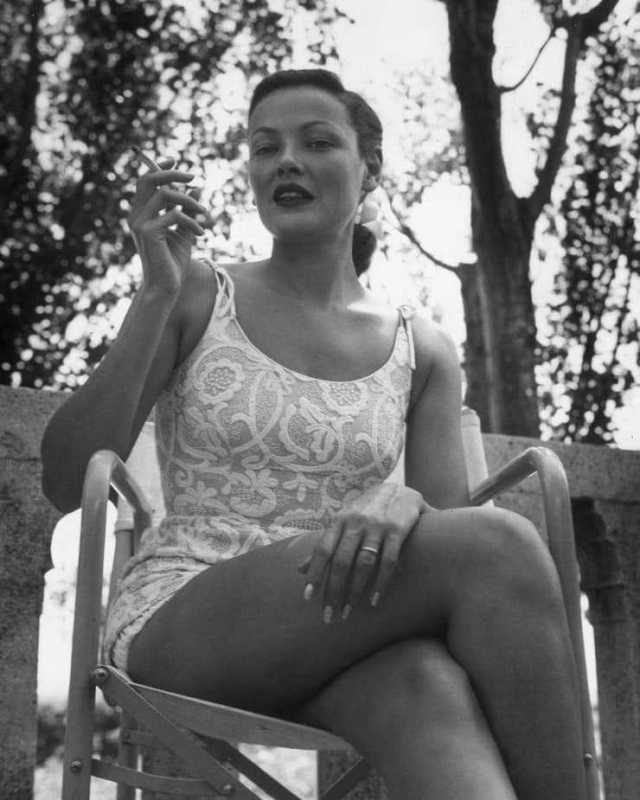Gene Tierney sexy thigh pics