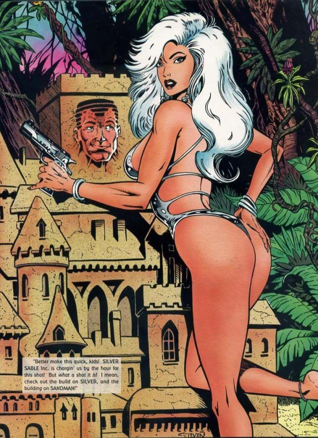 Silver Sable topless pics