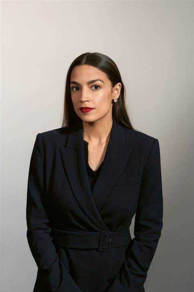 Alexandria Ocasio-Cortez hot black dress pics