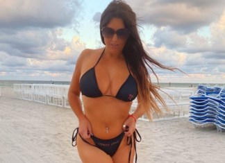 Claudia Romani Poses In Black Bikini And Dress To Show Off Her Boobs And Booty
