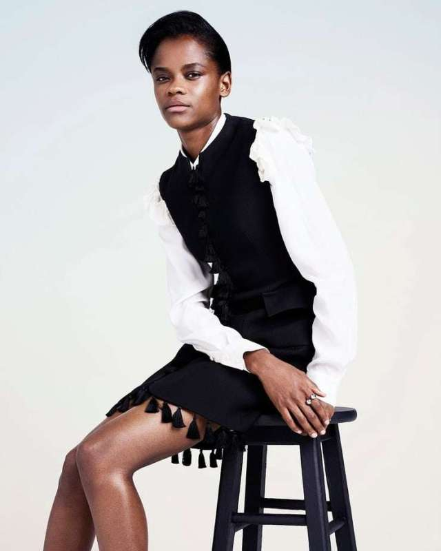 Letitia Wright sexy thigh pics