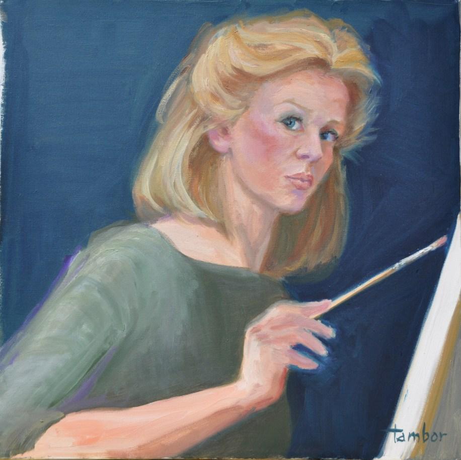 Carol Tambor, self portrait