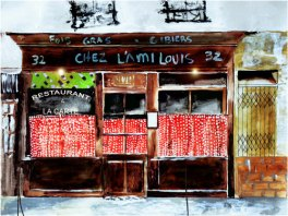 Chez L'ami Louis - Art Print