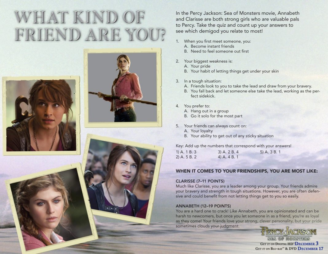 Percy Jackson Sea Of Monsters Activities