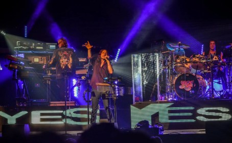 Yes, sir! The band invigorates the crowd at the Bergen Performing Arts Center August 10.
