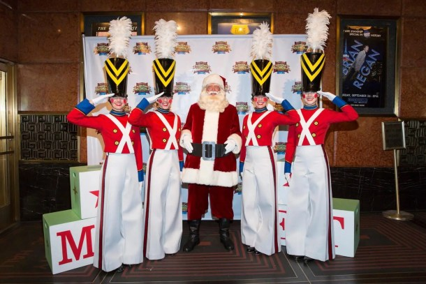 "Hamrah (second from the left) and fellow Rockettes at a ""Christmas in August"" event"