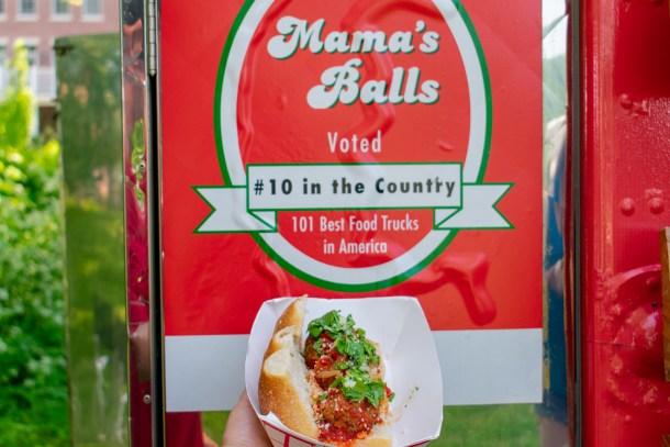 Mamas Meatballs Award Sign