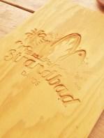 bachi's strandbad davos embossed wood