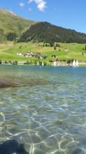 lake panoramic view davos