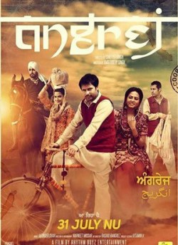 Angrej movie poster