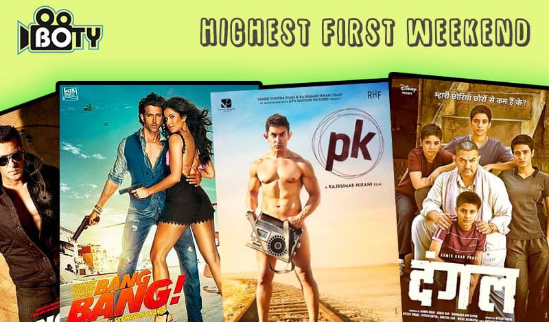 highest first weekend collection bollywood