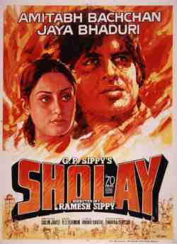 Sholay movie poster