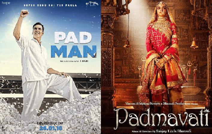 Padman vs. Padmavat - Daywise Box Office Comparison   BOTY
