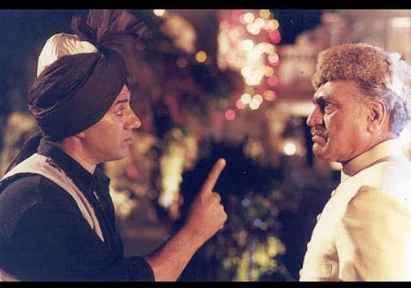 Sunny Deol and Amrish Puri in Gadar