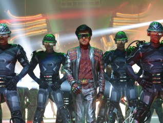 Rajnikanth as Chitti in 2.0