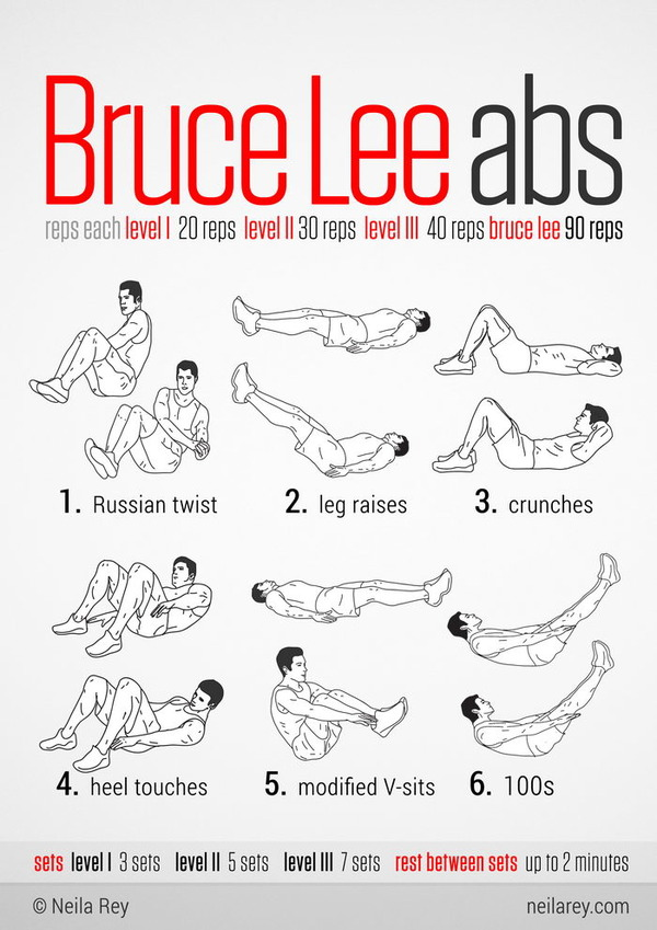 Bruce Lee Abs workouts