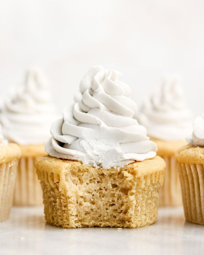 Vegan + GF Vanilla Cupcakes