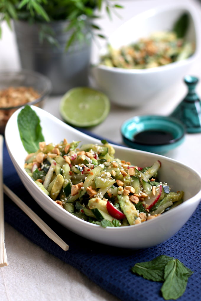 Asian-style Avocado and Cucumber Salad
