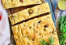 Olive Sourdough Focaccia