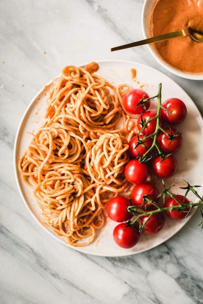 Creamy Vegan Tomato Macadamia Pasta by My Berry Forest