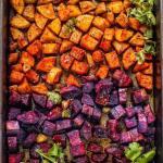 Moroccan-inspired Roasted Rainbow Potatoes