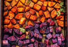 Moroccan-inspired Roasted Rainbow Potatoes