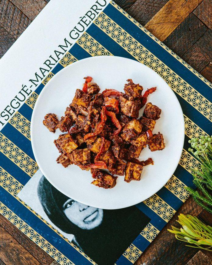 An Exploration of Vegan Ethiopian Cuisine: Spicy tofu tibs