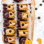 Chocolate Dipped Vegan Pretzel Cookie Dough Sandwiches