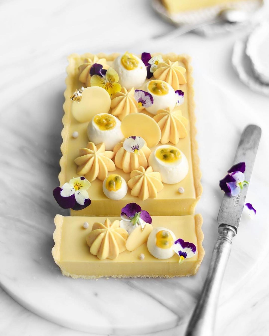 Vegan Passion Fruit Tart With Coconut Chantilly Cream Best Of Vegan