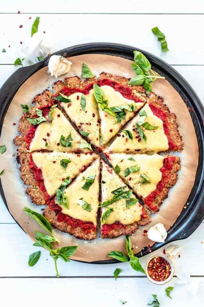 Vegan Cauliflower Pizza Crust
