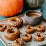 Vegan Baked Pumpkin and Coffee Donuts
