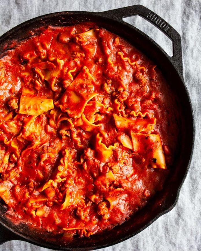 Creamy Vegan Skillet Lasagna