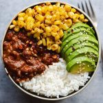 Mexican Style Black Beans with Roasted Chili Lime Corn