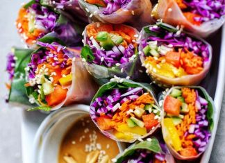 Vegan Rainbow Rolls