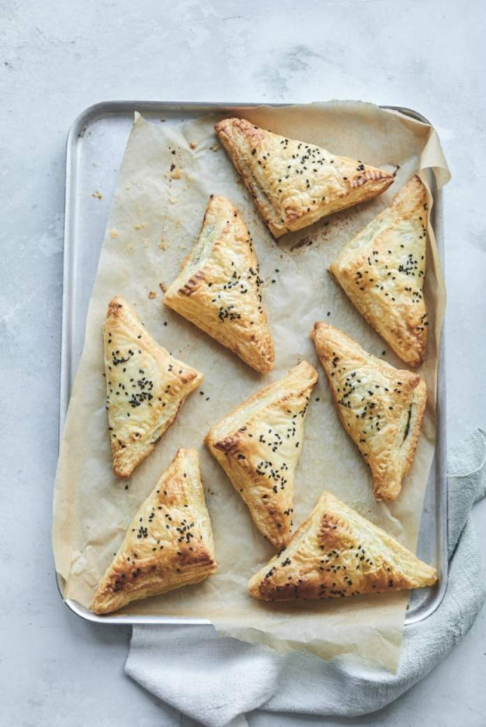 Spinach and Cashew Ricotta Triangles from Claire Power's Healthy Little Tummies