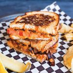 Chipotle Grilled Cheez with Balsamic Caramelized Onions from Megan Sadd's 30-Minute Vegan Dinners