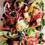Vegan Panzanella from Caroline Griffiths & Vicki Valsamis' Eat Plants, Be Happy!