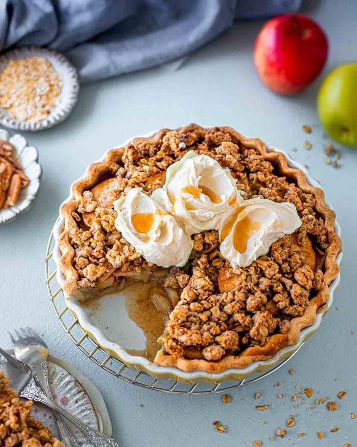 vegan apple crumble pie