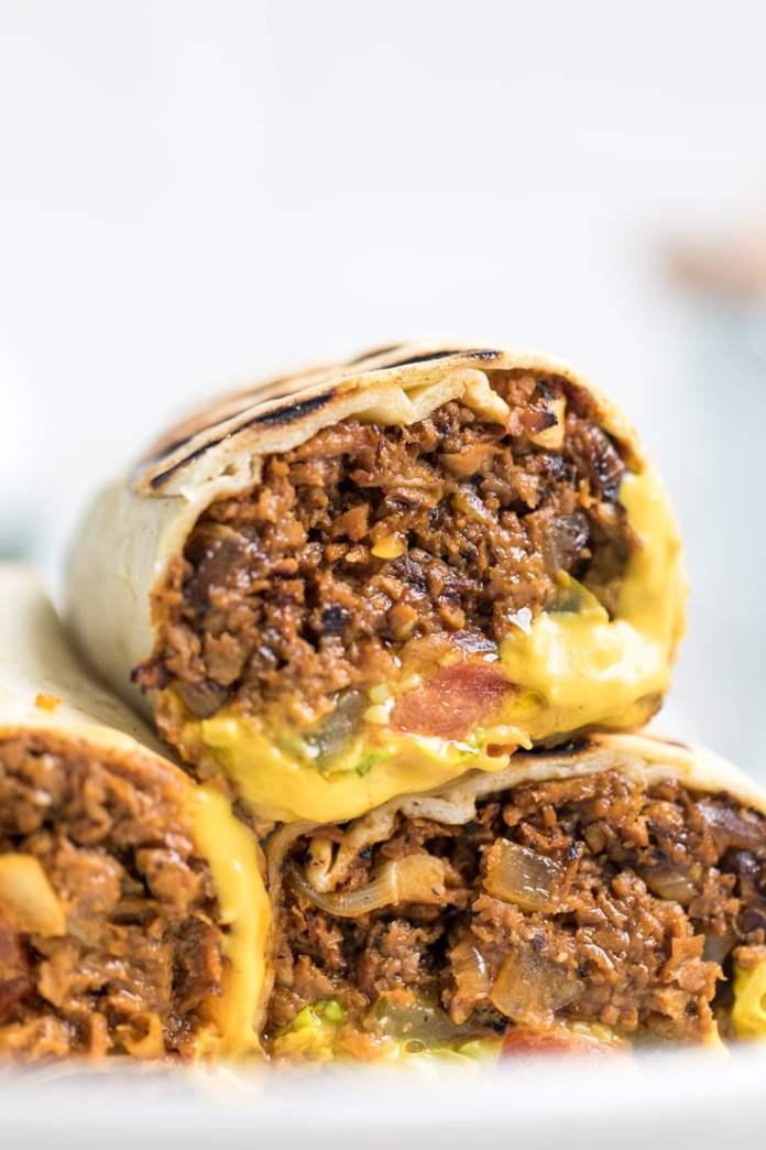 15+ Creative Vegan Cheeseburger-Inspired Recipes: Wraps