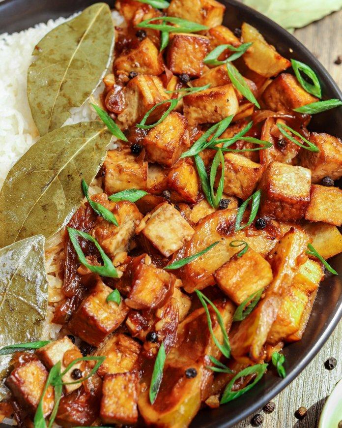 Vegan Filipino Adobong Tokwa (Tofu Adobo)