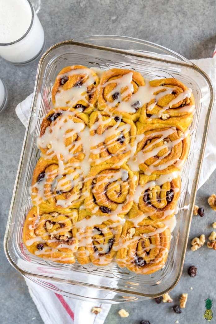 golden milk vegan cinnamon bun recipe