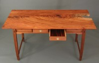 The drawer bottoms are cocobolo veneer.